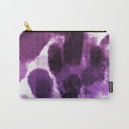 Artistic Purple Watercolor Spots Carry-All Pouch