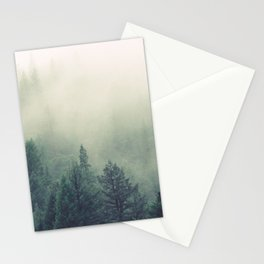 My Peacful Misty Forest Stationery Cards