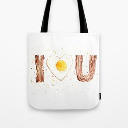 Bacon and Egg Love Valentines Day Heart Tote Bag