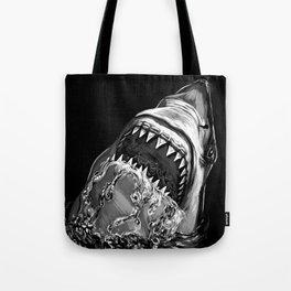 Shark Painting Tote Bag