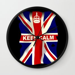 Keep Calm Union Jack Wall Clock