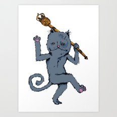 King of the Cats: Tom Tildrum Art Print