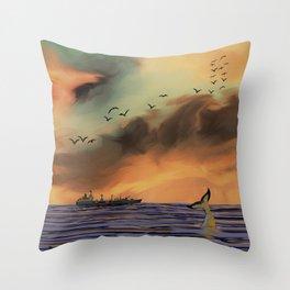 Sunrise in Byron Bay Throw Pillow