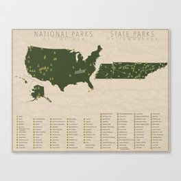 US National Parks - Tennessee Canvas Print