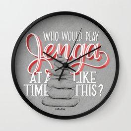 Jenga Wall Clock