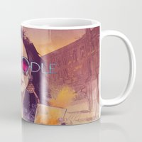 doodle Mugs featuring Welcome to the Fresh Doodle by Fresh Doodle - JP Valderrama
