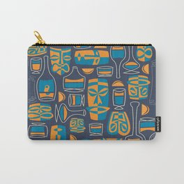Tiki/Cocktail Pattern Carry-All Pouch