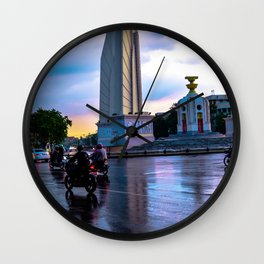 Motorbikes in South East Asia Wall Clock