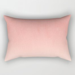 Coral ombre trendy girly trend college life dorm decor office minimalism Rectangular Pillow