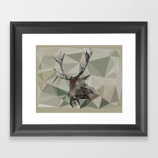 Cervus Elaphus Framed Art Print
