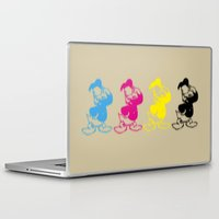 donald duck Laptop & iPad Skins featuring Donald Duck InQuadri by InQuadricromia