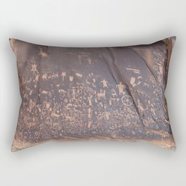 Newspaper Rock Rectangular Pillow