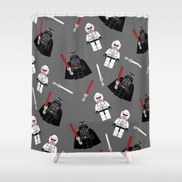 Darth-Gray Shower Curtain