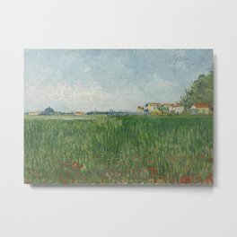 Field With Poppies Metal Print