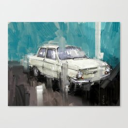 old whitey and still running Canvas Print