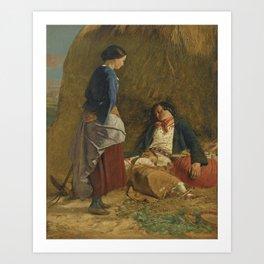 Robert Carrick 1819-1904 WEARY LIFE Art Print