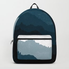 Mists No. 6 - Ombre Blue Ridge Mountains Art Print Backpack