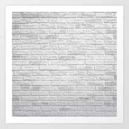 White Brick Art Print