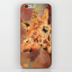 Long Necked Friend Giraffe Art iPhone & iPod Skin