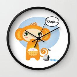 Oopsie Monkey Wall Clock