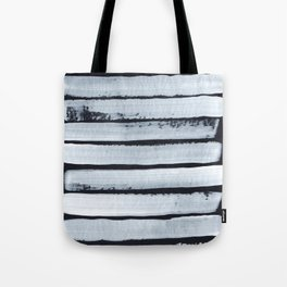 Abstract White Stripes Tote Bag