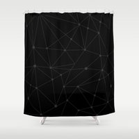 constellations Shower Curtains featuring Constellations by Shingo