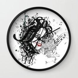 Musician Typographic Portrait Wall Clock