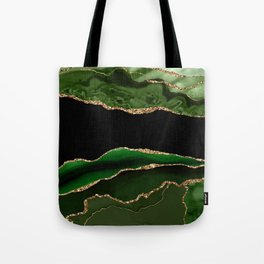 Emerald Marble Glamour Landscapes Tote Bag