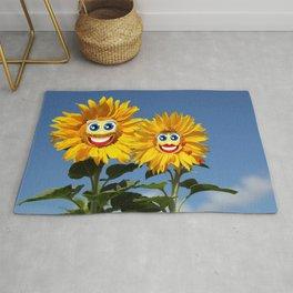 Sonnenblumenfrau und Sonnenblumenmann Rug