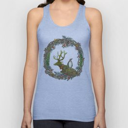 Christmas wreath Unisex Tank Top