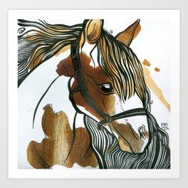 Tea Horse Art Print