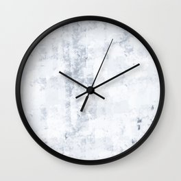 Frozen, White Winter Is Here, Hand-painted Modern Minimalist Abstract Acrylic Painting Wall Clock