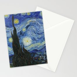 The Starry Night by Vincent van Gogh Stationery Cards