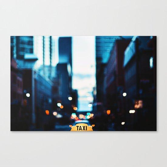 Blurred City Lights Canvas Print