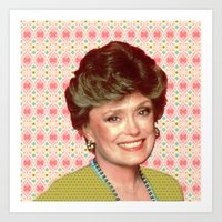 golden girls Art Prints featuring Golden Girls - Blanche by courtneeeee