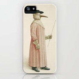Vintage Plague Doctor Illustration, 1910 iPhone Case