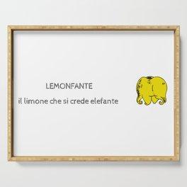 Lemonfante by Laura Pizzicalaluna Serving Tray