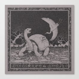Stop, egret! Canvas Print