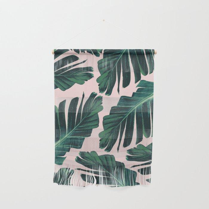 Tropical Blush Banana Leaves Dream 1 Decor Art Society6 Wall