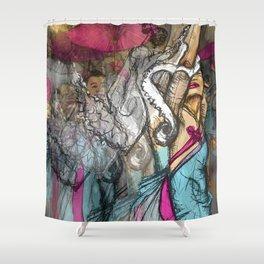 Chinese Dance  Shower Curtain