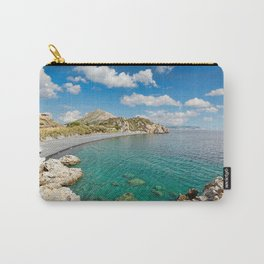 The famous beach Mavra Volia in Chios island, Greece Carry-All Pouch