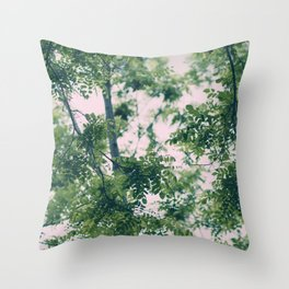 Spring Tree Branches Throw Pillow
