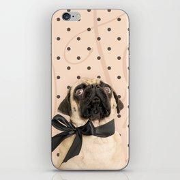 Trés Chic Pug iPhone Skin