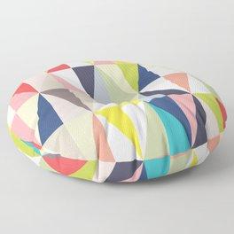 Abstract Geo Diamonds Floor Pillow
