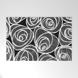 Midnight Roses Welcome Mat