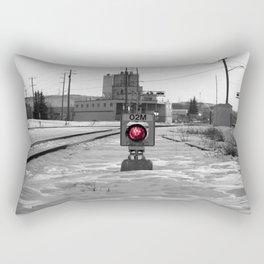 Train Track Signal Light Rectangular Pillow