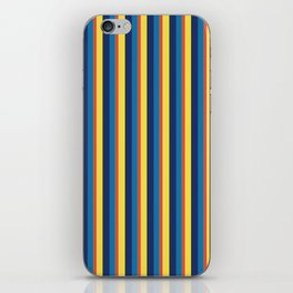zakiaz blue yellow orange stripe iPhone Skin