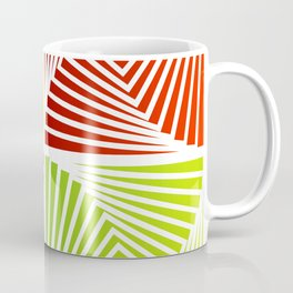 Colorful Squares twirling from the Center. Optical Illusion of PerspectiveColorful Squares twirling Coffee Mug