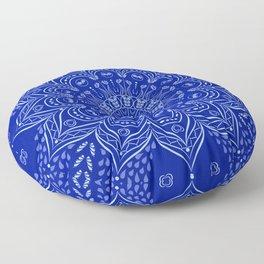 Blue Boho Mandala Floor Pillow