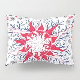 Flaming Sun Abstract Pillow Sham
